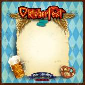 Scroll the menu Oktoberfest — Stock vektor