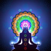 Chakra Meditation — Stock Vector