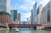 Chicago Boat Tour — Stock Photo