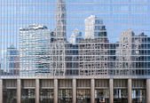 Reflections of skyscrapers — Stock Photo