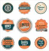 Premium quality retro labels collection — Stock Vector