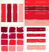 Red  torn paper, collection — Stock Vector