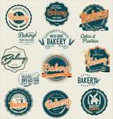 Bakery retro labels collection — Stock Vector