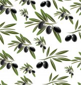 Olive seamless background — Stock Vector