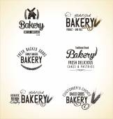 Bakery labels collection — Stockvektor