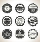 Prémiové kvality retro popisky kolekce — Stock vektor