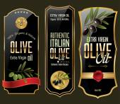 Olive gold and black banner collection — Vetorial Stock