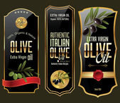 Olive gold and black banner collection — Stockvector