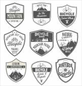 Bicycle retro badge collection — Stock Vector