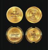 金色标签集合 — 图库矢量图片