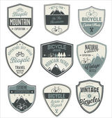 Bicycle retro vintage badge collection — Stock Vector