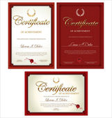 Red  Certificate template collection — Stock Vector