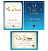 Blue Certificate template collection — Stock Vector