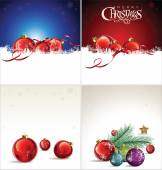 Merry Christmas background collection — Stock Vector