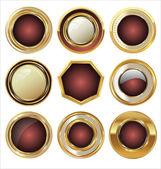 Collezione di etichette d'oro — Vettoriale Stock