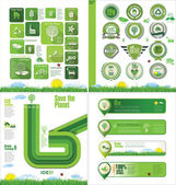 Ecology design template — Stock Vector