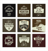 Bicycle retro vintage badge collection — Wektor stockowy