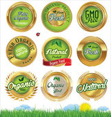Eco And Bio Labels set — Stock Vector