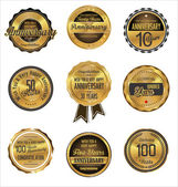 Anniversary golden label collection — Stockvector