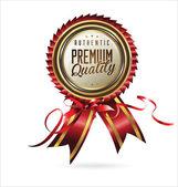 Premium Quality retro Label — Stock Vector