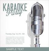 Karaoke retro background — Stock Vector