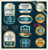 Premium, quality retro vintage labels collection — Stockvektor