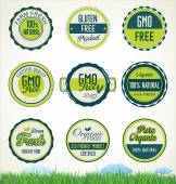 Organic food banners collection — Stock Vector