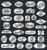 Vintage sale labels collection design elements, Premium quality — Stock Vector