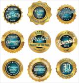 Premium, quality retro vintage labels collection — Stock Vector