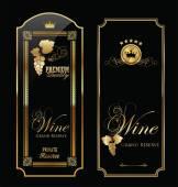 Golden wine label collection — Stockvektor