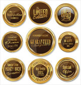 Premium quality gold and brown badges — Vecteur