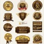 Anniversary golden label — Stock Vector #56913495