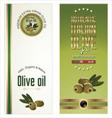 Olive gold and black banner collection — Stock Vector