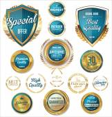 Premium, quality retro vintage labels collection — Stock Vector