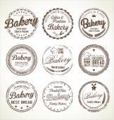 Bakery retro grunge stamp collection — Stockvektor