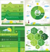 Moderna ekologi Design Layout, samling — Stockvektor
