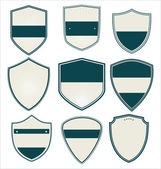 Blank retro vintage badges and labels — Stock Vector