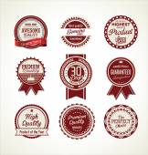 Vintage sale labels collection design elements, Premium quality — Stockvektor