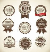 Quality Retro vintage badge collection — Stock Vector