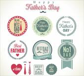 Vintage Happy Fathers Day badges — Stock Vector