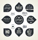 品质复古标签 — 图库矢量图片