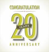 Anniversary retro background — Stock Vector