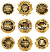 Jahrgang Verkauf Etiketten Sammlung Designelemente, Premium-Qualität — Stockvektor