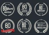 Yıldönümü defne çelengi tasarım — Stok Vektör
