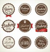 Bakery retro badges collection — Stock Vector
