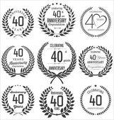 Anniversary laurel wreath design — 图库矢量图片
