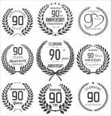 Anniversary laurel wreath design — Stock Vector