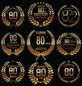 Diseño de corona de laurel de aniversario — Vector de stock