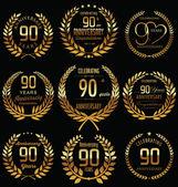 Årsdagen laurel krans design — Stockvektor