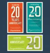 Anniversary label collection — Stock Vector